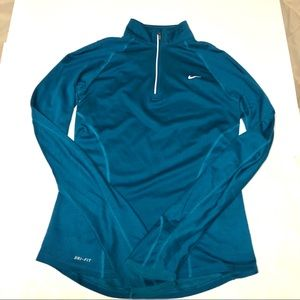 - Nike Turquoise quarter zip pullover Size Small